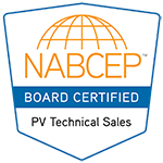NABCEP Board Certified PV Technical Sales